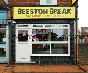 Photo of Beeston Break pizzas, kebabs and fast food takeaway on Wollaton Road in Beeston near Nottingham
