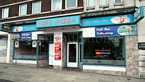 Photo of Cafe Pizza; pizza and fast food eat in and takeaway in West Bridgford near Nottingham