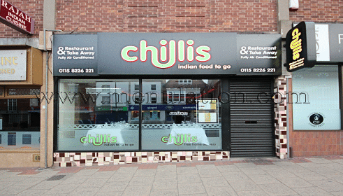 Photo of Chillis Indian restaurant with takeaway and delivery in Sherwood, Nottingham