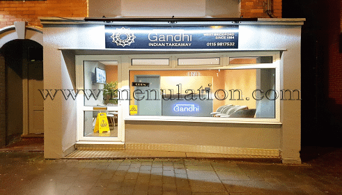 Photo of Gandhi Indian takeaway in West Bridgford near Nottingham