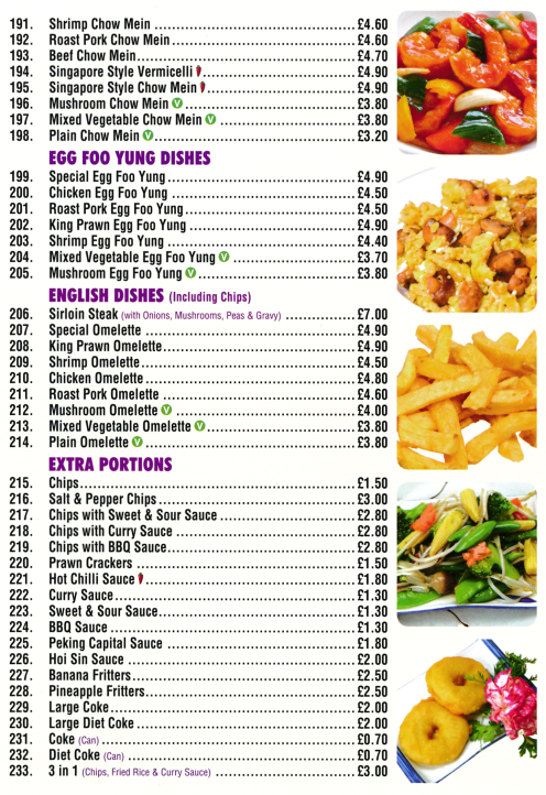 Takeaway and delivery menu for Golden Palace in Sutton-In-Ashfield