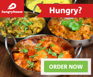 Picture of curries; Hungry House website link. Order food from your local takeaways.