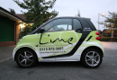 Photo of Lime's delivery vehicle, delivering curries in Nottingham.