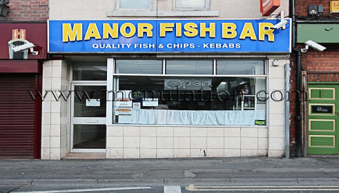 Photo of Manor Fish Bar takeaway on South Street in Ilkeston, Derbyshire