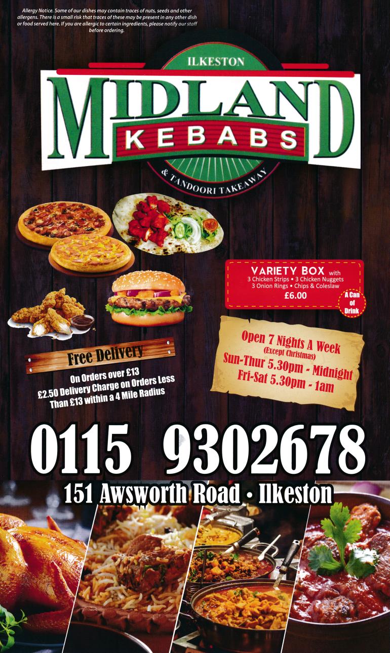 Menu For Midland Kebabs Amp Tandoori Takeaway In Ilkeston