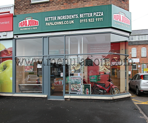 Photo of Papa John's pizza takeaway on Queens Road East in Beeston near Nottingham