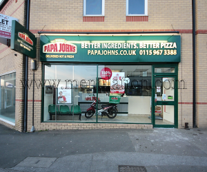 Photo of Papa John's pizza takeaway in Arnold near Nottingham