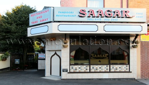 Photo of Saagar Indian restaurant and takeaway in Sherwood, Nottingham