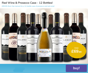 Red Wine and Prosecco 12 bottle case offer