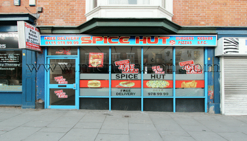Photo of Spice Hut pizza and fast food takeaway in Radford, Nottingham
