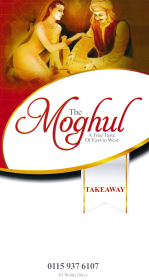 Menu for The Moghul Indian takeaway on Wolds Drive in Keyworth near Nottingham NG12 5FT