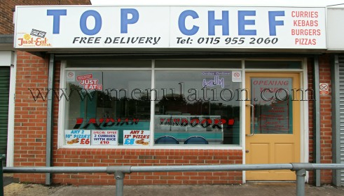 Photo of Top Chef Indian, pizza and fast food takeaway in Hucknall near Nottingham